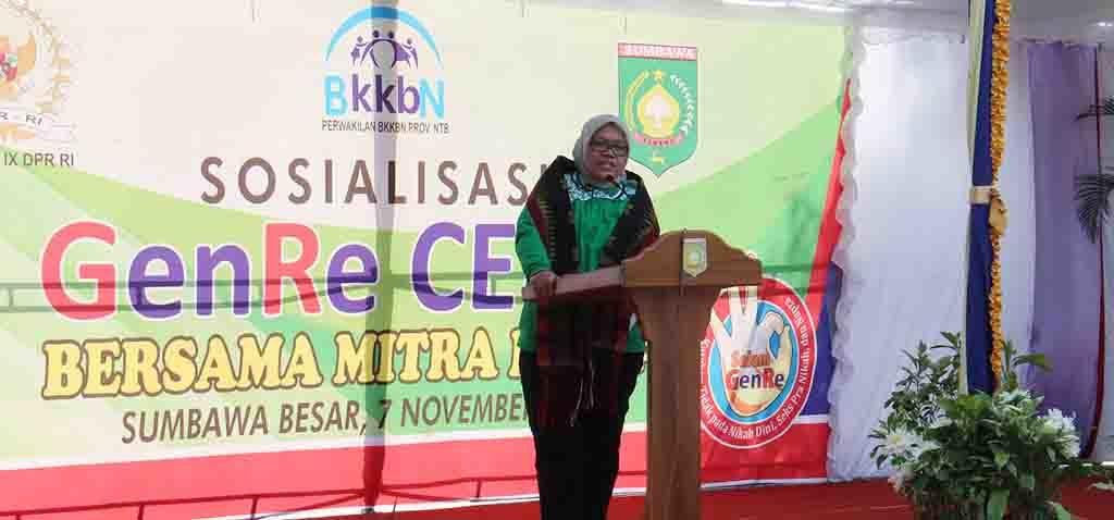 Anggota DPR RI Hj. Ermalena memberikan sambutan.