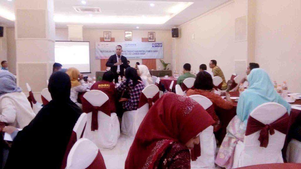Pertemuan antara Pelaku Usaha 4 Desa dampingan Program Yes I Do, yaitu desa Kediri, Jagara Indah, Lembar Selatan, Sekotong Timur di Hotel Puri Indah Mataram.
