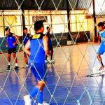 Para atlet futsal peserta Pelatda PON NTB menjalani latihan di Mataram belum lama ini. (Suara NTB/KONI NTB)