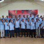 Kepengurusan baru yang dilahirkan dalam Konferensi Provinsi Persatuan Wartawan Indonesia (PWI) NTB, di Desa Tete Batu, Kecamatan Sikur, Kabupaten Lombok Timur, Sabtu, 29 Februari 2020. (Suara NTB/ist)