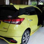 Salah satu produk Toyota yang dipasarkan Krida Toyota NTB. Pembelian kendaraan saat ini tersendat. Salah satunya kekhwatiran dampak virus corona. (Suara NTB/bul)